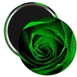Green Rose Magnets