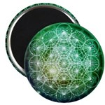 Sacred Geometry Green 5th Glyph Magnets