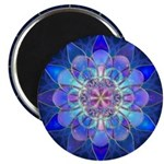 Sacred Geometry Blue Petals Magnets