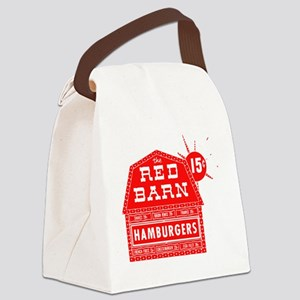 Red Barn Canvas Lunch Bag