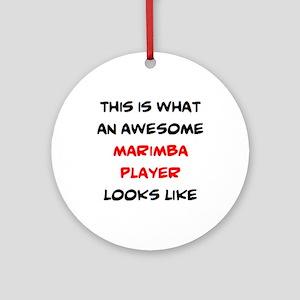 awesome marimba playe Round Ornament