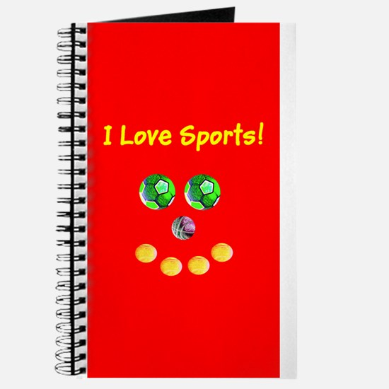 I Love Sports Balls Face 4Artie Journal