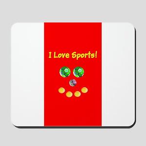 I Love Sports Balls Face 4Artie Mousepad