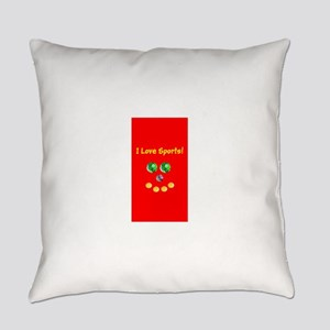 I Love Sports Balls Face 4Artie Everyday Pillow