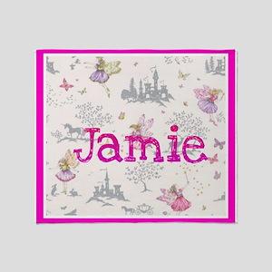 Jamie- unicorn princess Throw Blanket