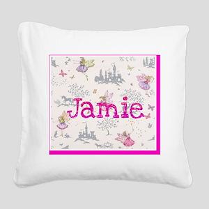 Jamie- unicorn princess Square Canvas Pillow