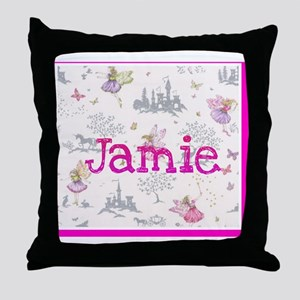 Jamie- unicorn princess Throw Pillow