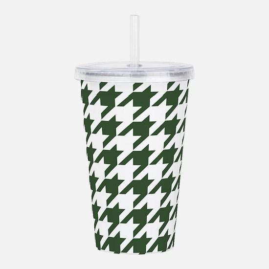Green, Pine: Houndstoo Acrylic Double-wall Tumbler