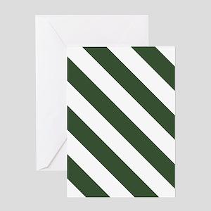 Green, Pine: Stripes Pattern (Diagon Greeting Card