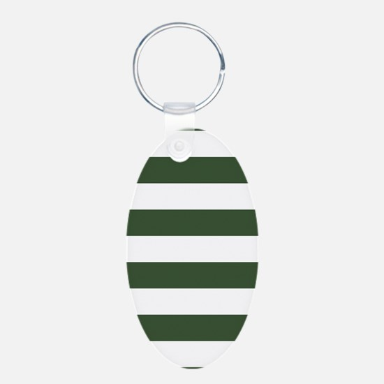 Green, Pine: Stripes Patter Keychains