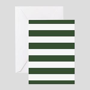 Green, Pine: Stripes Pattern (Horizo Greeting Card