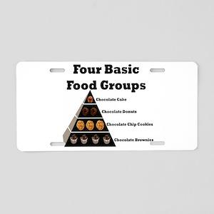 4basicfoodgroups Aluminum License Plate