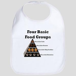4basicfoodgroups Baby Bib