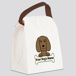 Personalized Water Spaniel Canvas Lunch Bag