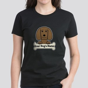 Personalized Water Spaniel Women's Dark T-Shirt