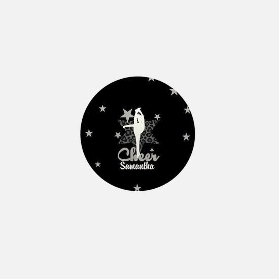 Black Allstar cheerleader Mini Button