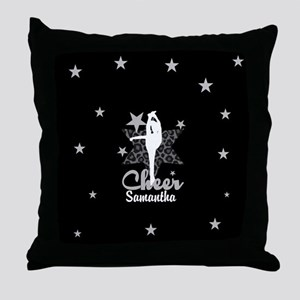 Black Allstar cheerleader Throw Pillow