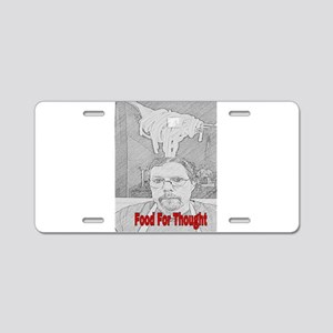 Food For Thought Aluminum License Plate
