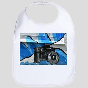Camera Mural Baby Bib