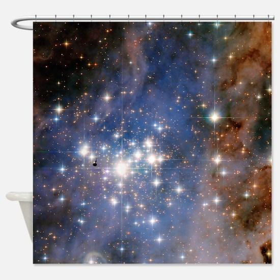 Unique Hubble telescope Shower Curtain