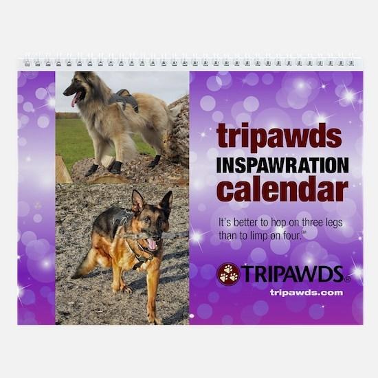 Tripawds Wall Calendar #20 - New For 2017