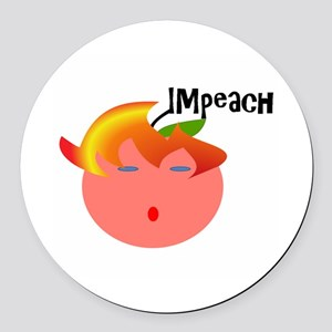 Impeach the peach Round Car Magnet