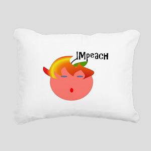 Impeach the peach Rectangular Canvas Pillow