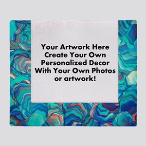 Your Artwork Here Throw Blanket