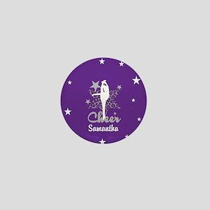 Purple Allstar Cheerleader Mini Button