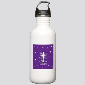 Purple Allstar Cheerleader Water Bottle