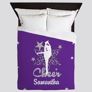 Purple Allstar Cheerleader Queen Duvet