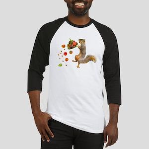 Squirrel Spilling Food Baseball Jersey