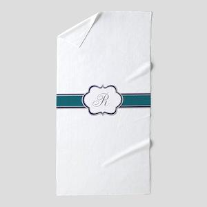 Elegant Monogram by LH Beach Towel