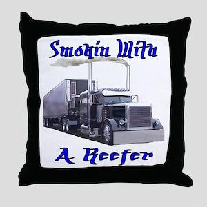 Smokin With A Reefer Throw Pillow