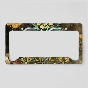 Steampunk, noble design License Plate Holder