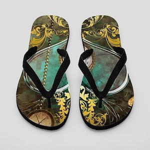 Steampunk, noble design Flip Flops