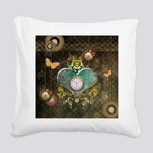 Steampunk, noble design Square Canvas Pillow