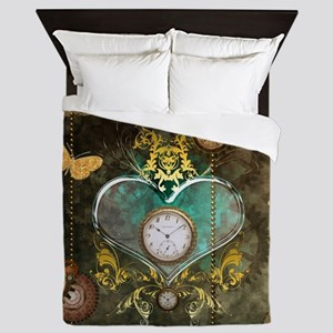 Steampunk, noble design Queen Duvet