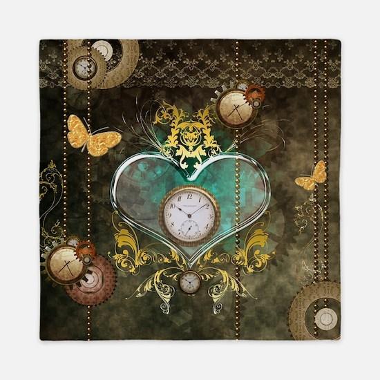 Steampunk, noble design Queen Duvet