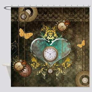 Steampunk, noble design Shower Curtain