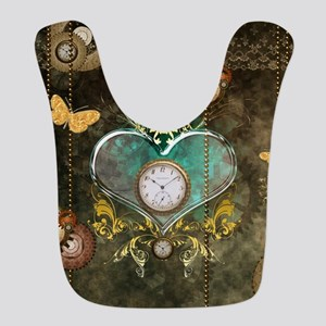 Steampunk, noble design Polyester Baby Bib