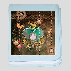 Steampunk, noble design baby blanket