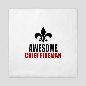 Awesome Chief fireman Queen Duvet