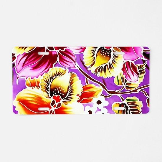 No. 020 Batik Art Asia Mast Aluminum License Plate