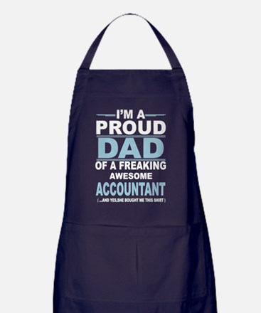 Cute Accountant dad Apron (dark)