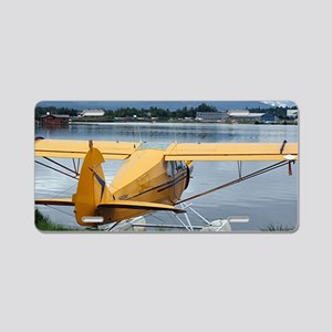 Float plane 6, Lake Hood, A Aluminum License Plate
