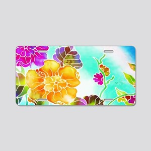 No. 003 Batik Art Asia Mast Aluminum License Plate