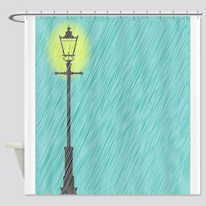 Lamppost In the Rain Shower Curtain
