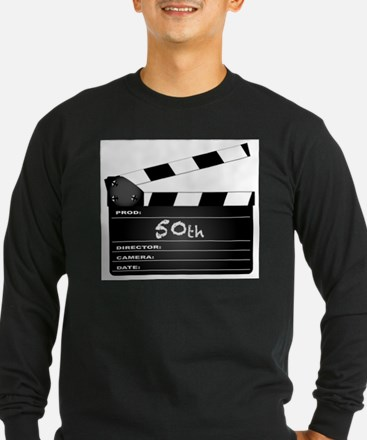 50th Year Clapperboard Long Sleeve T-Shirt