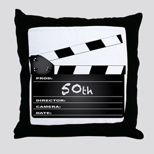 50th Year Clapperboard Throw Pillow